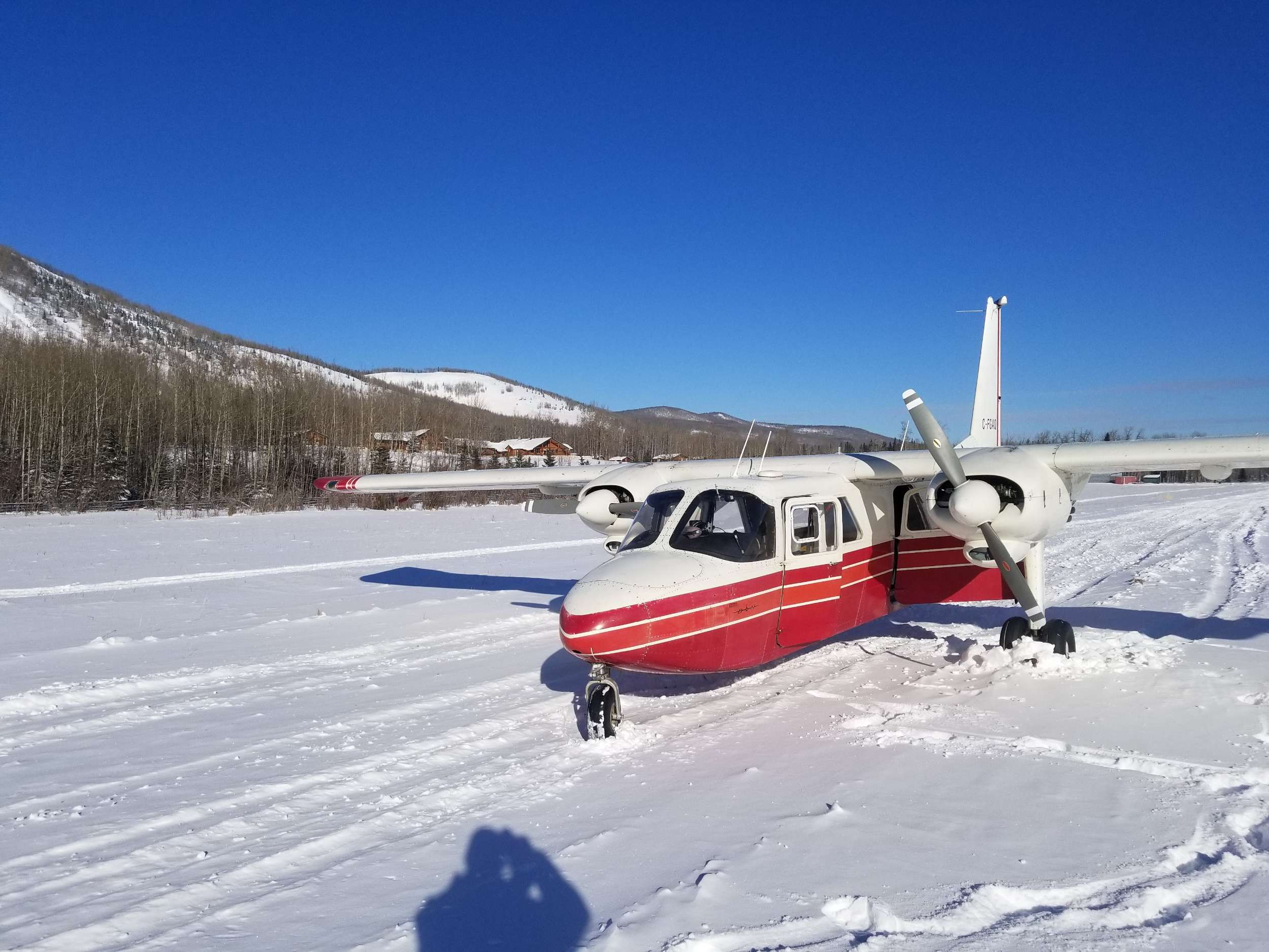 plane on snow area